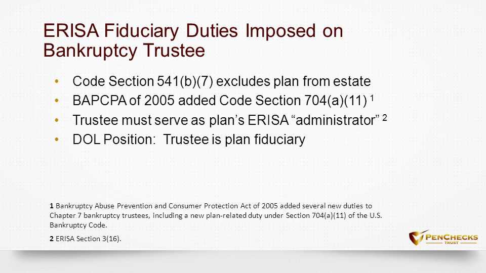Program Availability to Bankruptcy Trustees?Program Availability to Bankruptcy Trustees.
