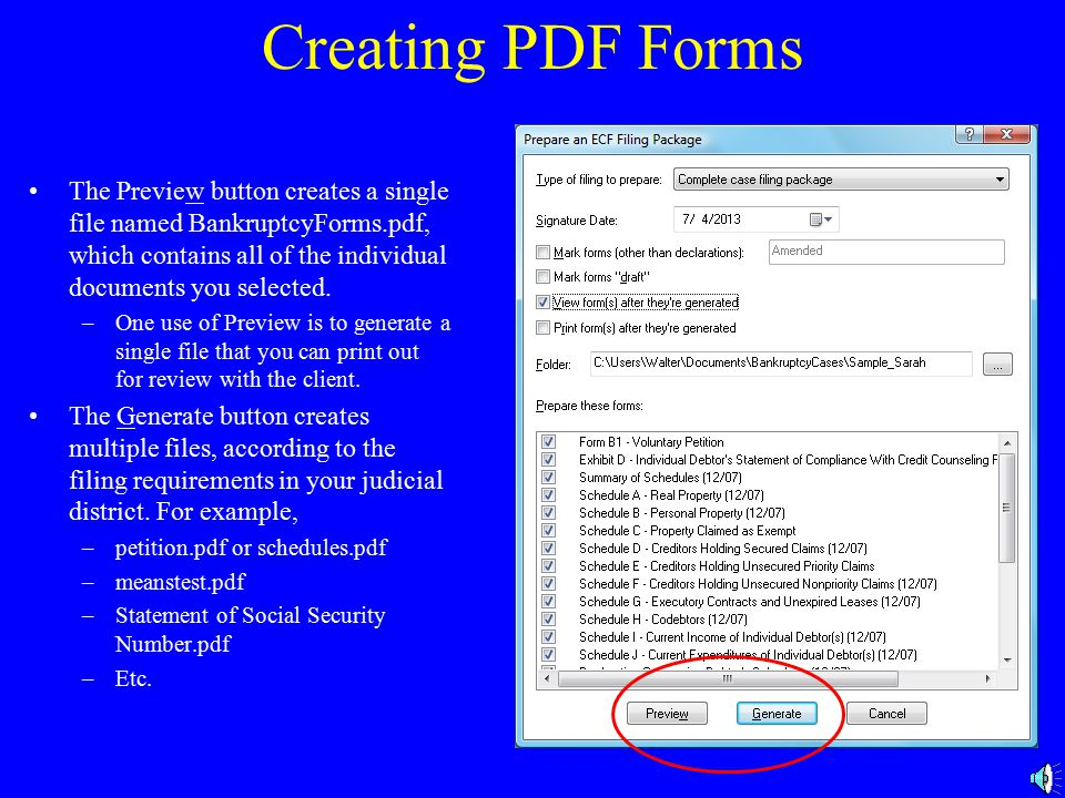 Forms to Prepare Check the box(es) for the form(s) you want to create.