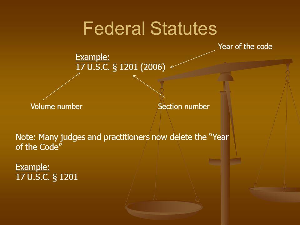 Federal Statutes Example: 17 U.S.C.