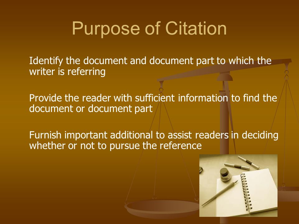 Importance of Citations Judges care about citations and how briefs are drafted.