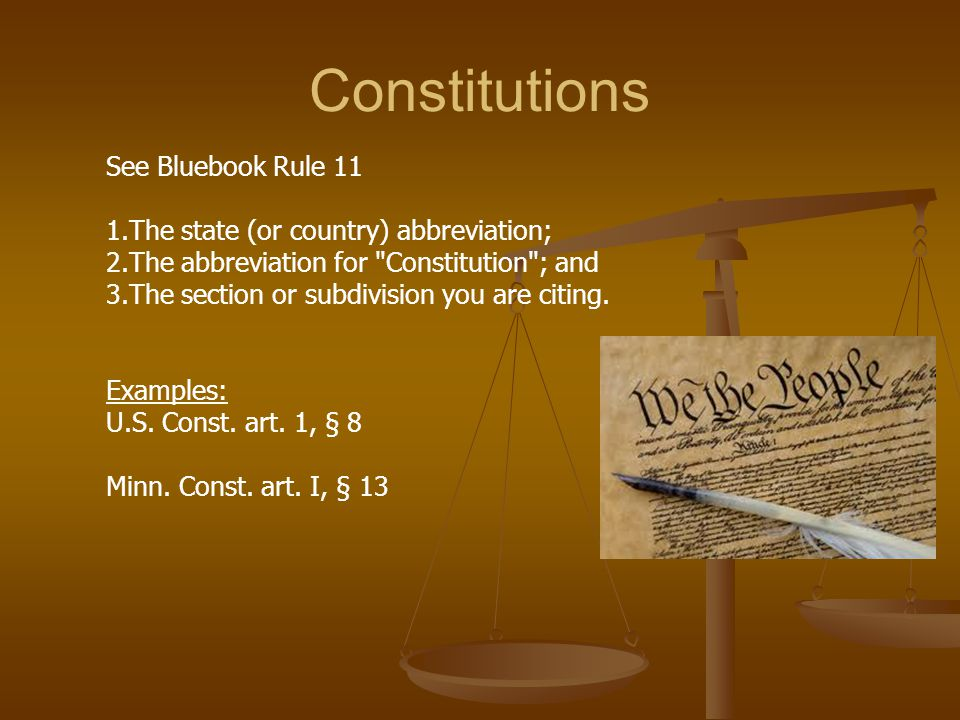 Statutes Statutes – enacted by legislature (Congress or state legislature) Regulations – enacted by administrative agencies Codes – a systematic collection or revision of laws, rules, or regulations Code can refer to statutes or regulations Federal Statutes: compiled in the United States Code U.S.C. or U.S.