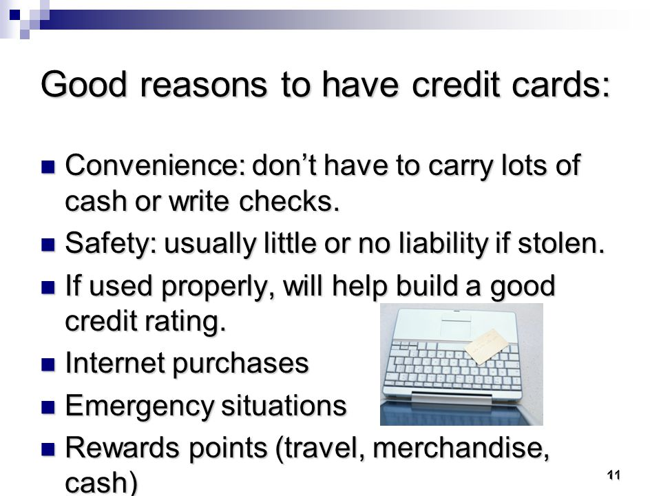 10 Focus on CREDIT CARDS WHY.