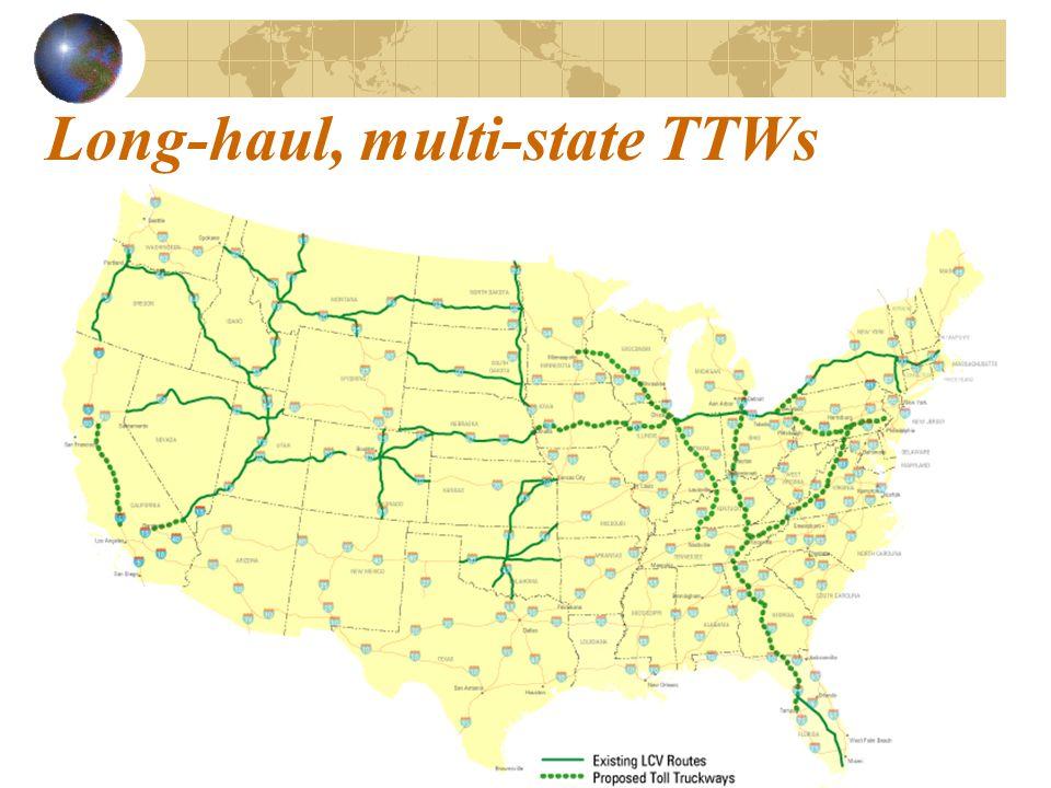 Long-haul, multi-state TTWs