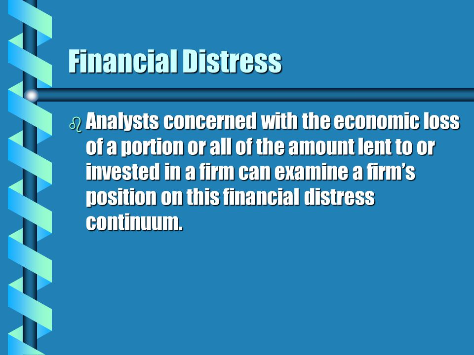 Credit Risk Analysis b Circumstances leading to need for the loan b Cash Flows b Collateral b Capacity for Debt b Contingencies b Character of Management b Conditions