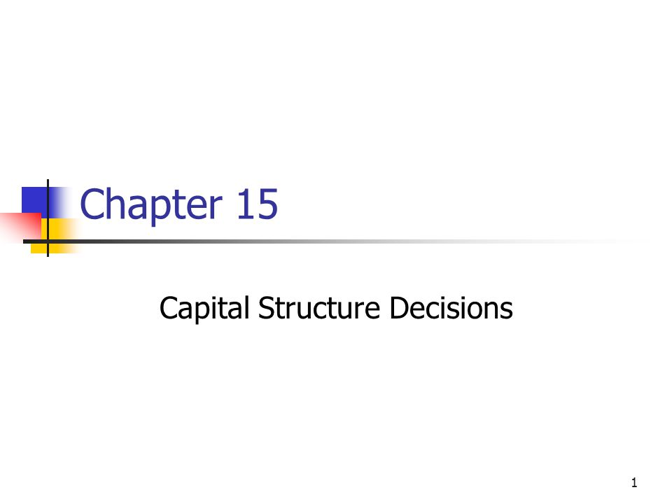 The Optimal Capital Structure Calculate the cost of equity at each level of debt.