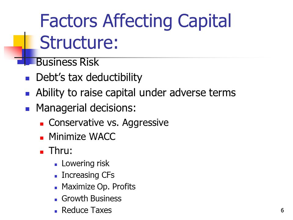 47 Implications for Managers (Continued) Avoid financial distress costs by maintaining excess borrowing capacity, especially if the firm has: Volatile sales High operating leverage Many potential investment opportunities Special purpose assets (instead of general purpose assets that make good collateral)