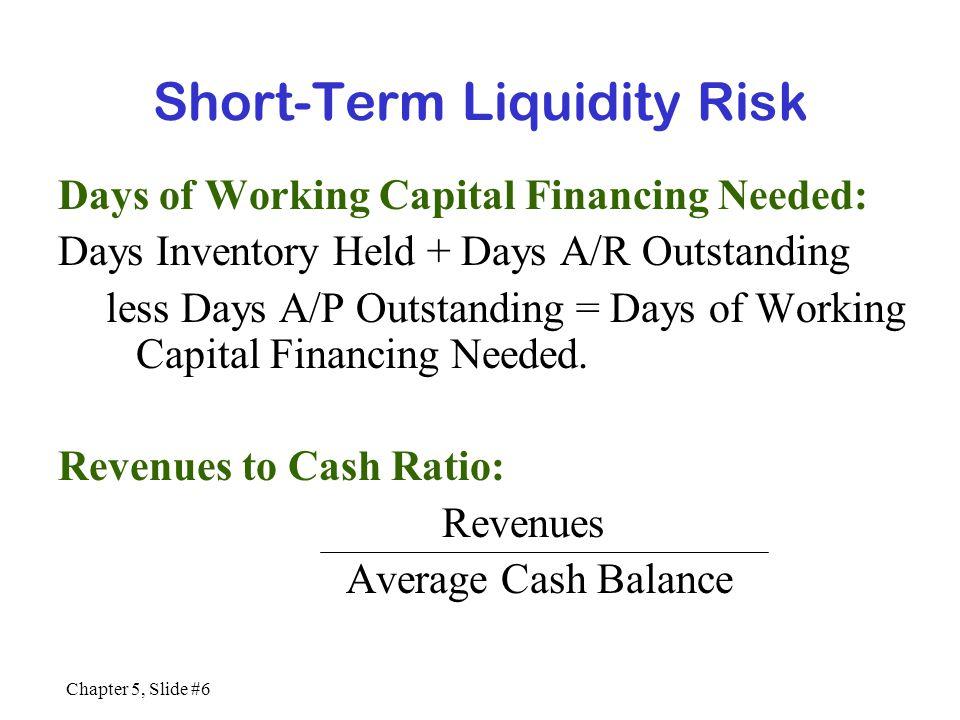 Chapter 5, Slide #7 Long-Term Solvency Risk Debt Ratios Long-term debt = Long-term debt L/T debt + S/H Equity Debt/Equity Ratio = L/T debt S/H Equity Liabilities to Assets Ratio = Total Liabilities Total Assets