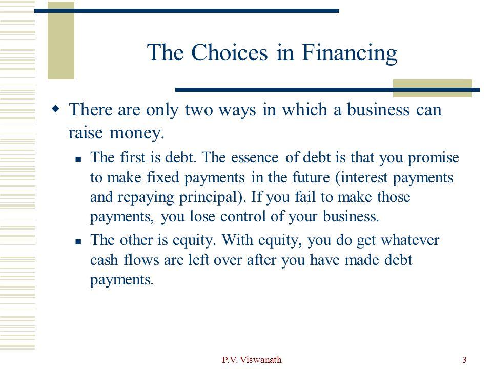 P.V. Viswanath4 Debt versus Equity