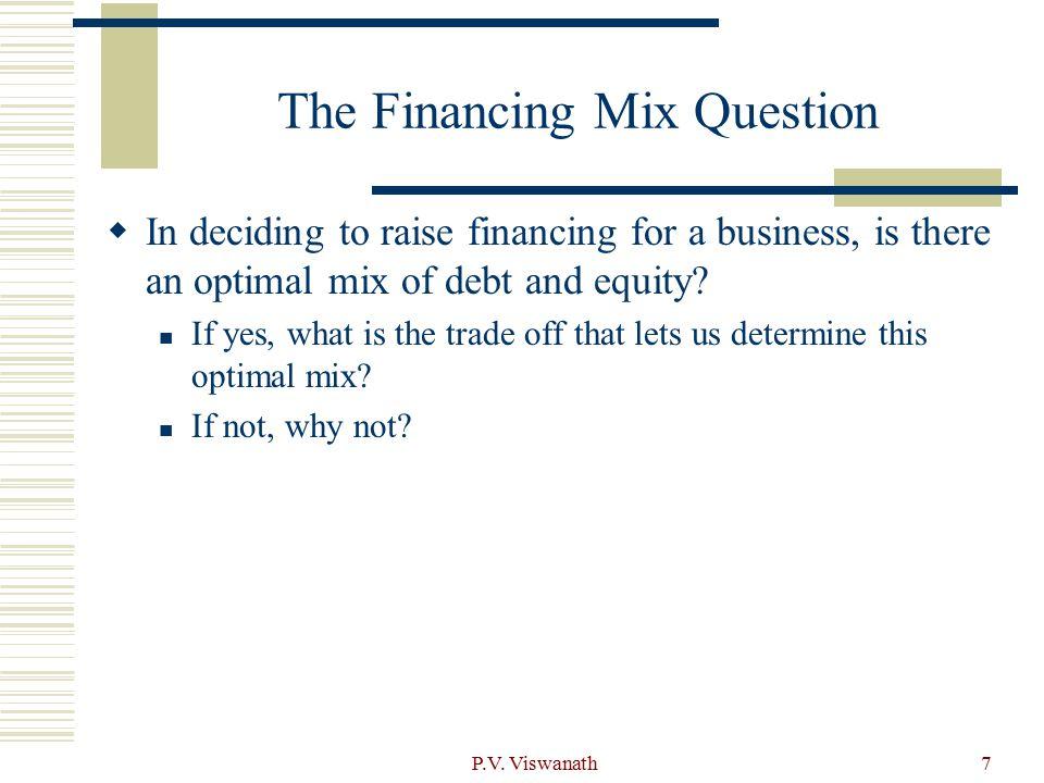 P.V.Viswanath18 Indirect Bankruptcy Costs should be highest for….
