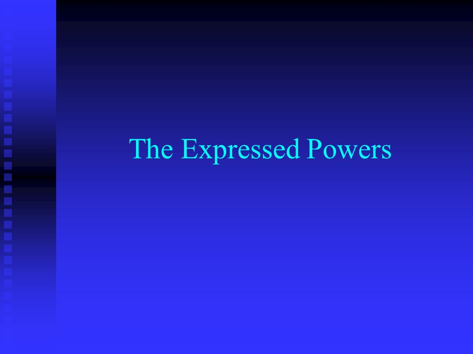 The Expressed Powers