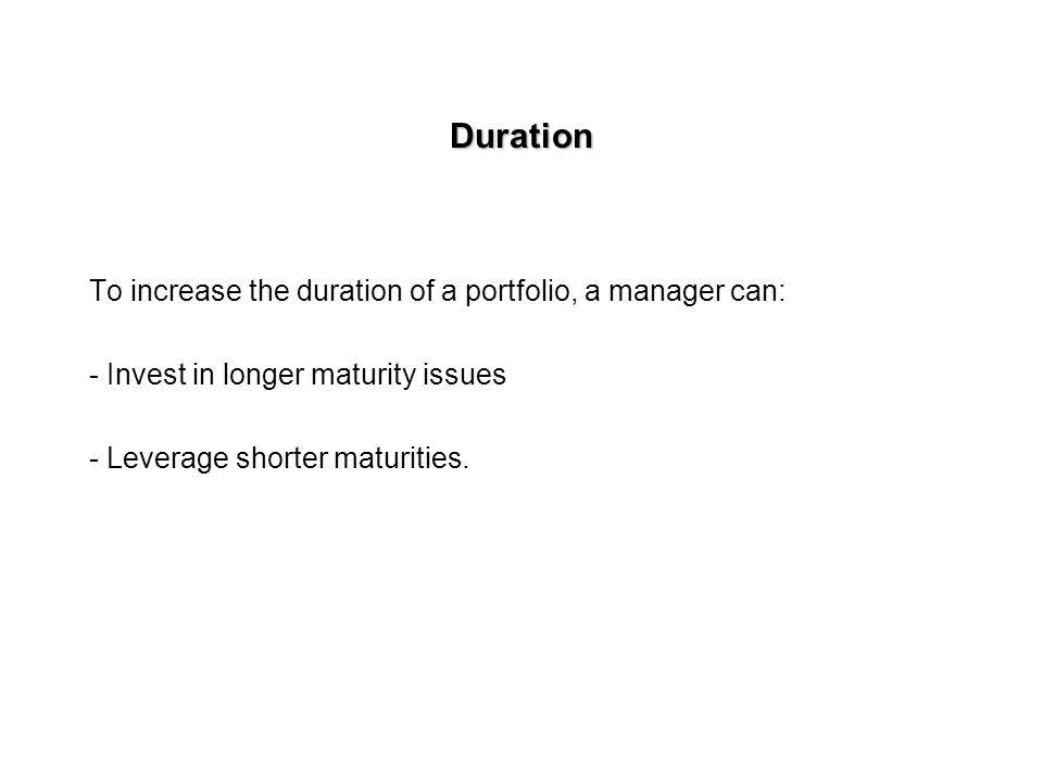 Maturity and Duration for 8% coupon bonds selling at par
