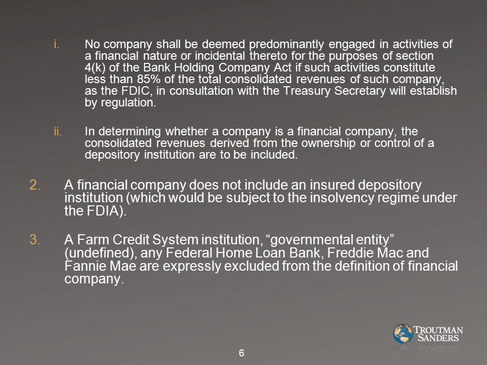 J.Orderly Liquidation Fund 1.The Establishment of the Fund.