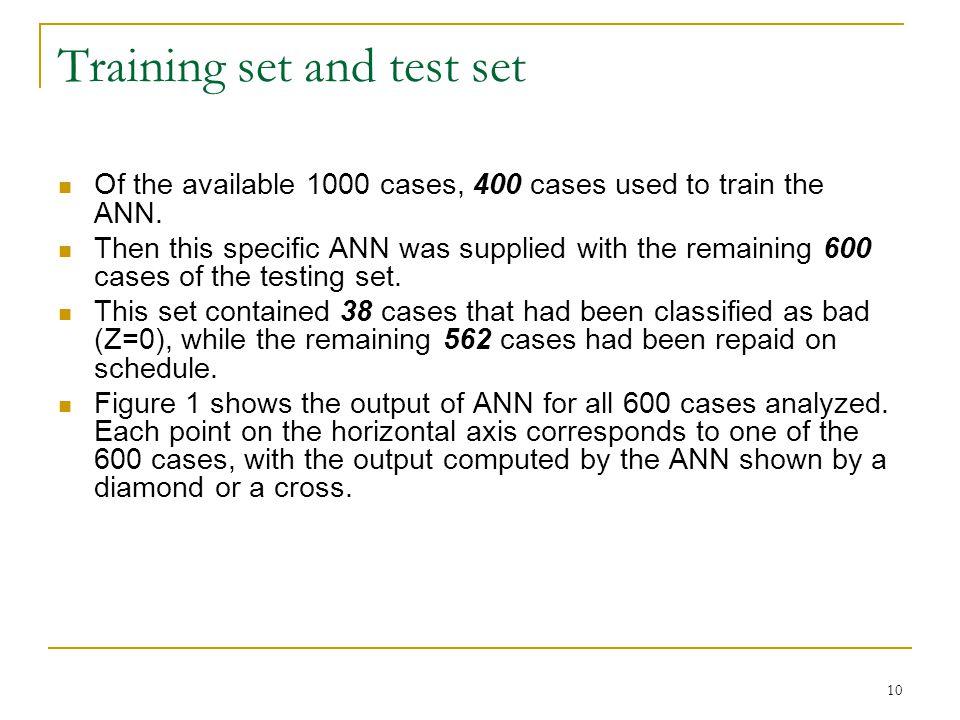 11 Figure 1: Loan classification by ANN