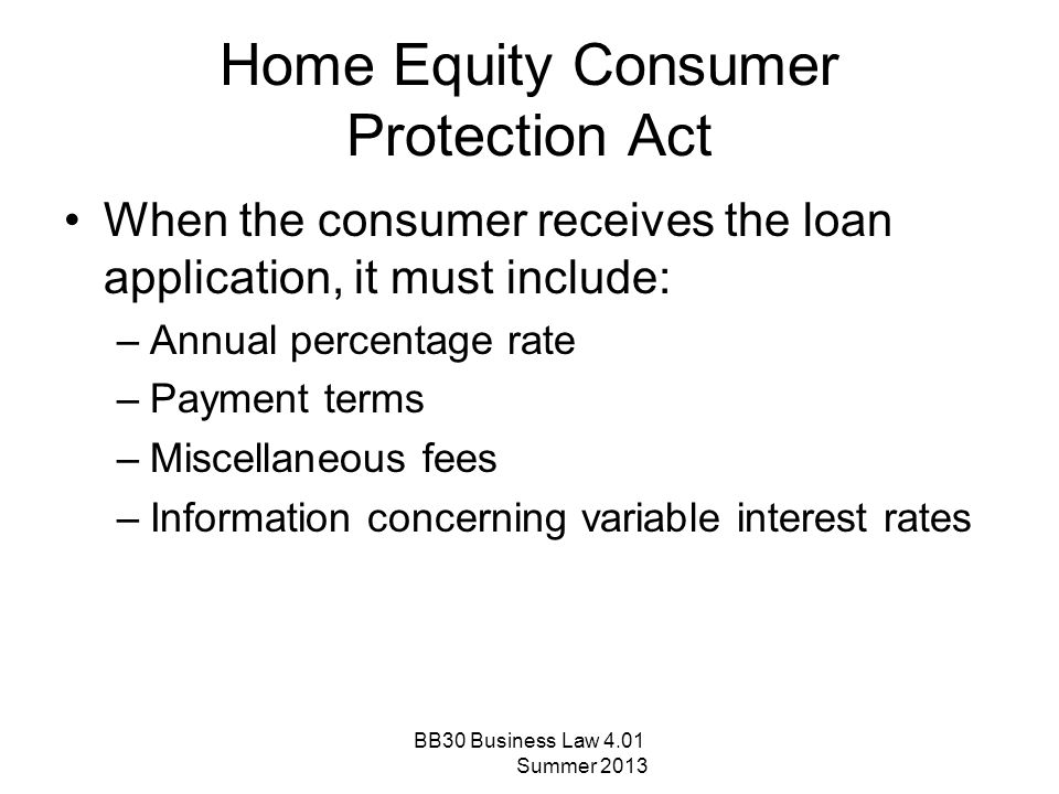 Right to Financial Privacy Act Grants consumers' personal financial records a reasonable amount of privacy from federal government searches This act created Fourth Amendment protection for bank records Requires government agencies to give banks and time to object the search of consumer personal records BB30 Business Law 4.01 Summer 2013