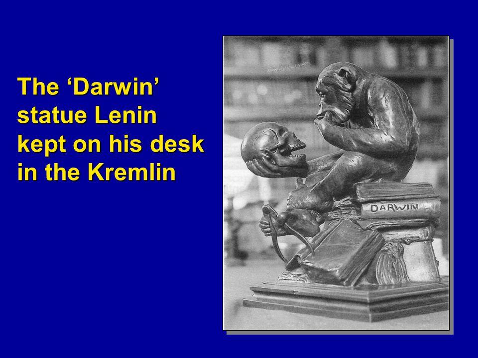 The 'Darwin' statue Lenin kept on his desk in the Kremlin