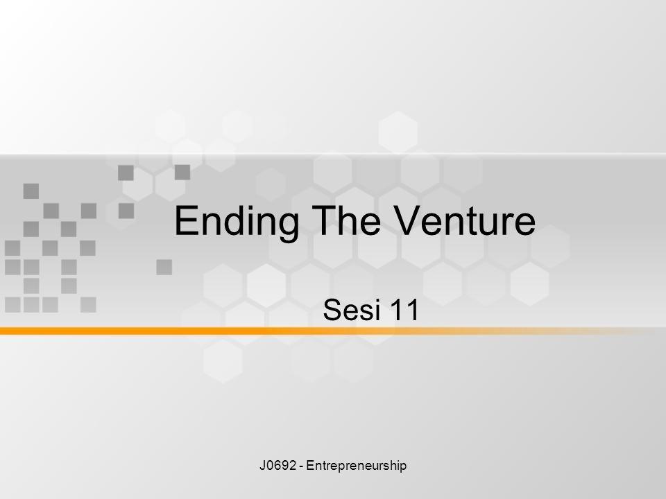 J0692 - Entrepreneurship Ending The Venture Sesi 11