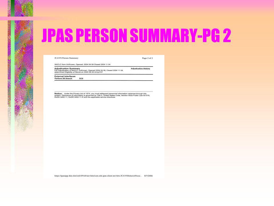 JPAS PERSON SUMMARY-PG 2