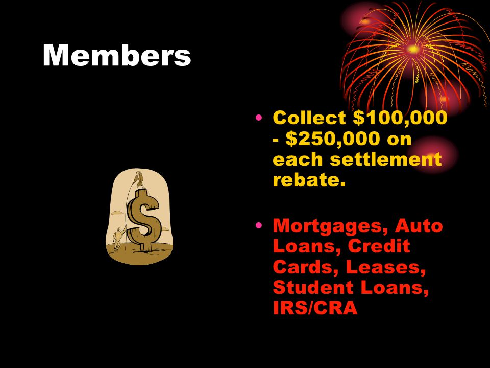 Freedom Club USA Collect $100,000 - $250,000 for each bank loan and IRS/CRA transactions