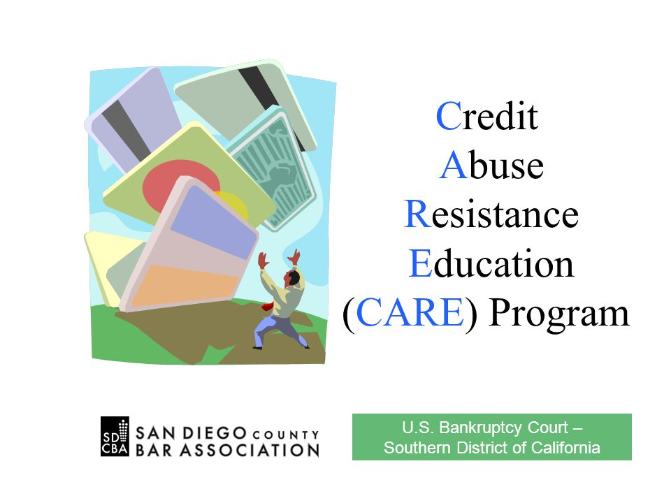 Credit Abuse Resistance Education Program 13 5.Everyone over age 18 has a credit report.