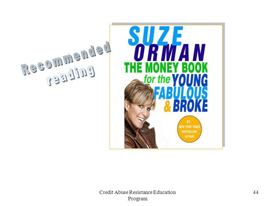 Credit Abuse Resistance Education Program 44