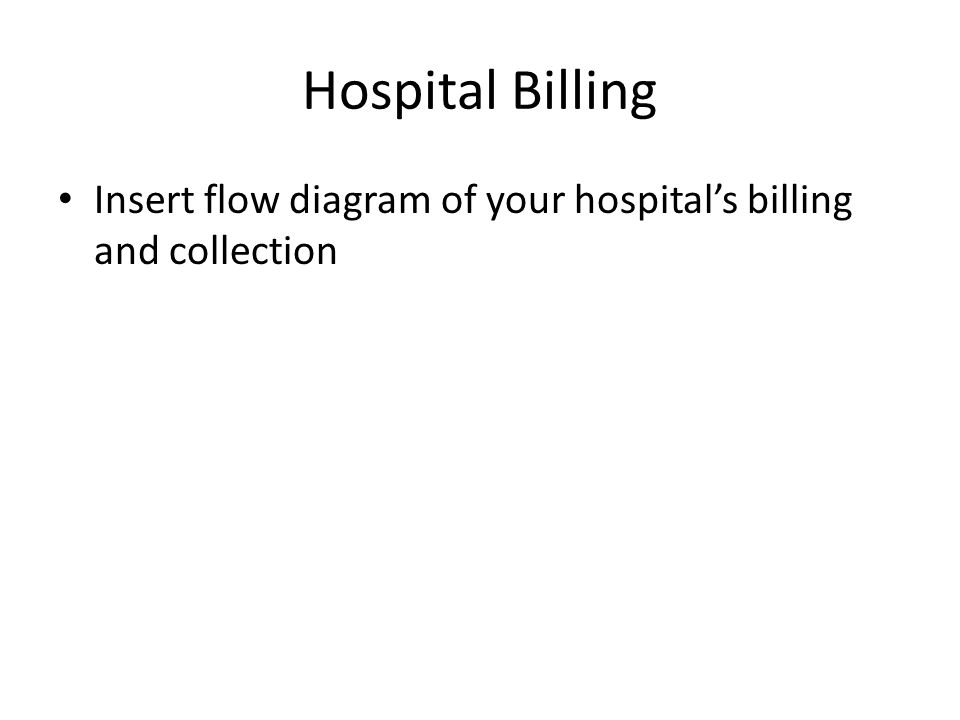 Hospital Billing Insert flow diagram of your hospital's billing and collection