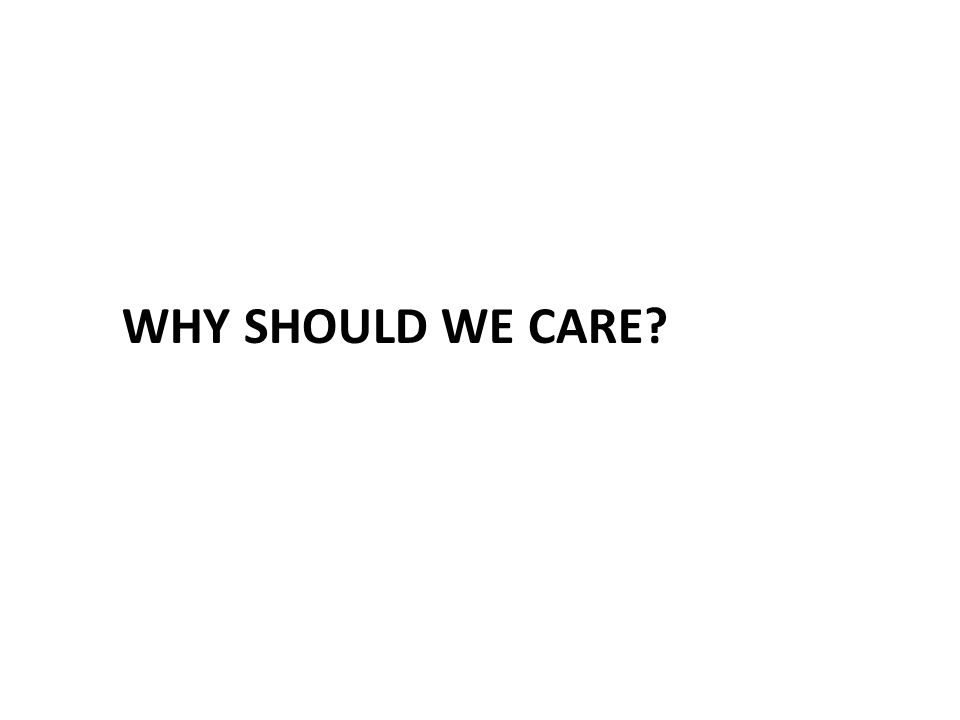 Why Should We Care? The Impact on: – The United States – UAB – Our Patients