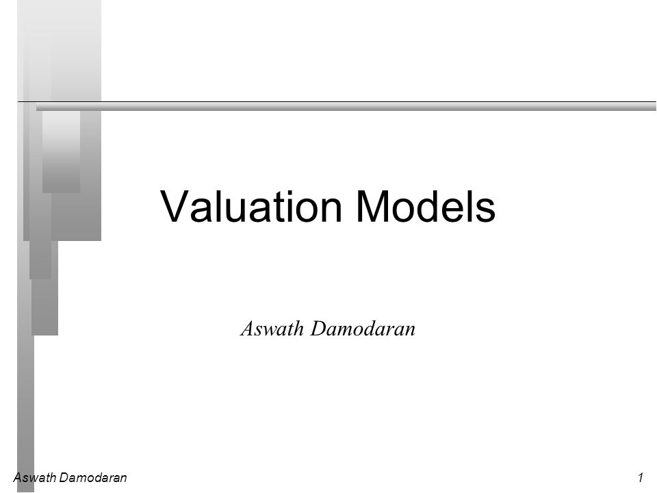 2 Misconceptions about Valuation Myth 1: A valuation is an objective search for true value Truth 1.1: All valuations are biased.