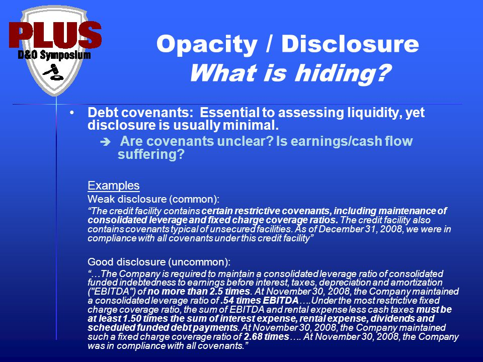 Opacity / Disclosure What is hiding.