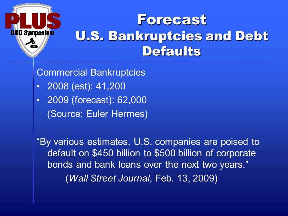 Commercial Bankruptcy Filings Source: U.S. Bankruptcy Courts