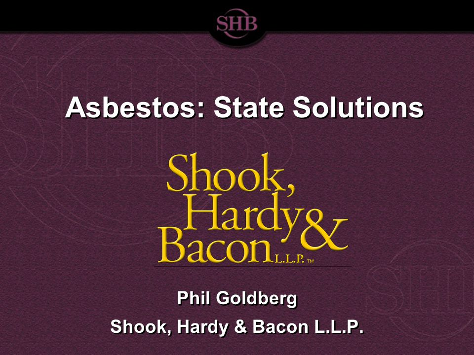 Where We Are Today US Supreme Court: asbestos-litigation crisis. 300,000 pending claims.