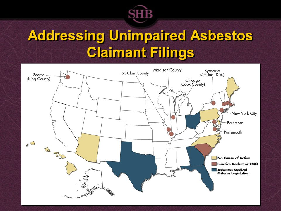 Addressing Unimpaired Asbestos Claimant Filings