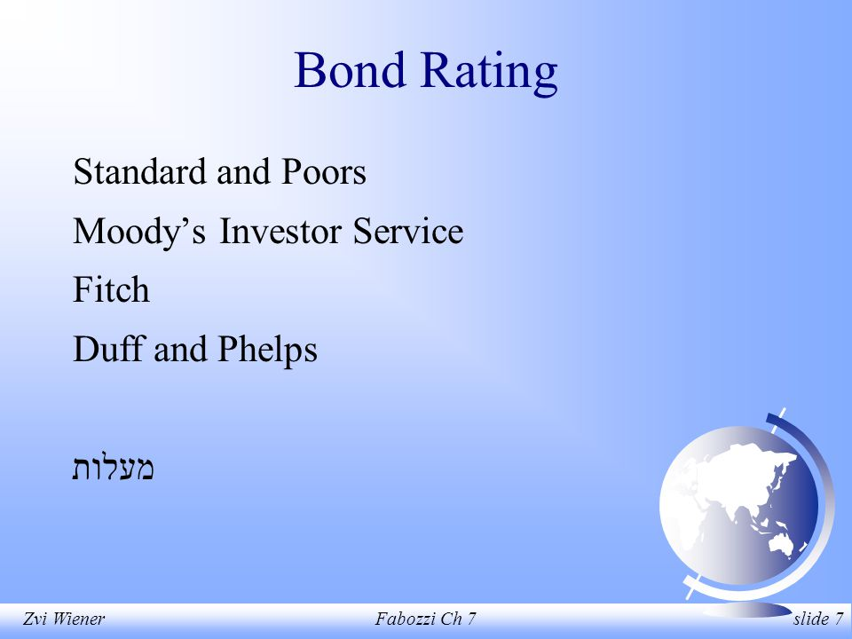 Zvi WienerFabozzi Ch 7 slide 18 Commercial Papers Short term debt issued with less documentation typically by large and stable corporations for up to 270 days.