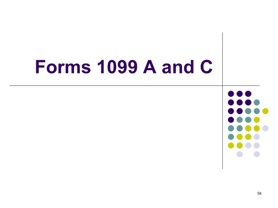 94 Forms 1099 A and C
