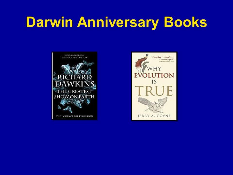 Darwin Anniversary Books