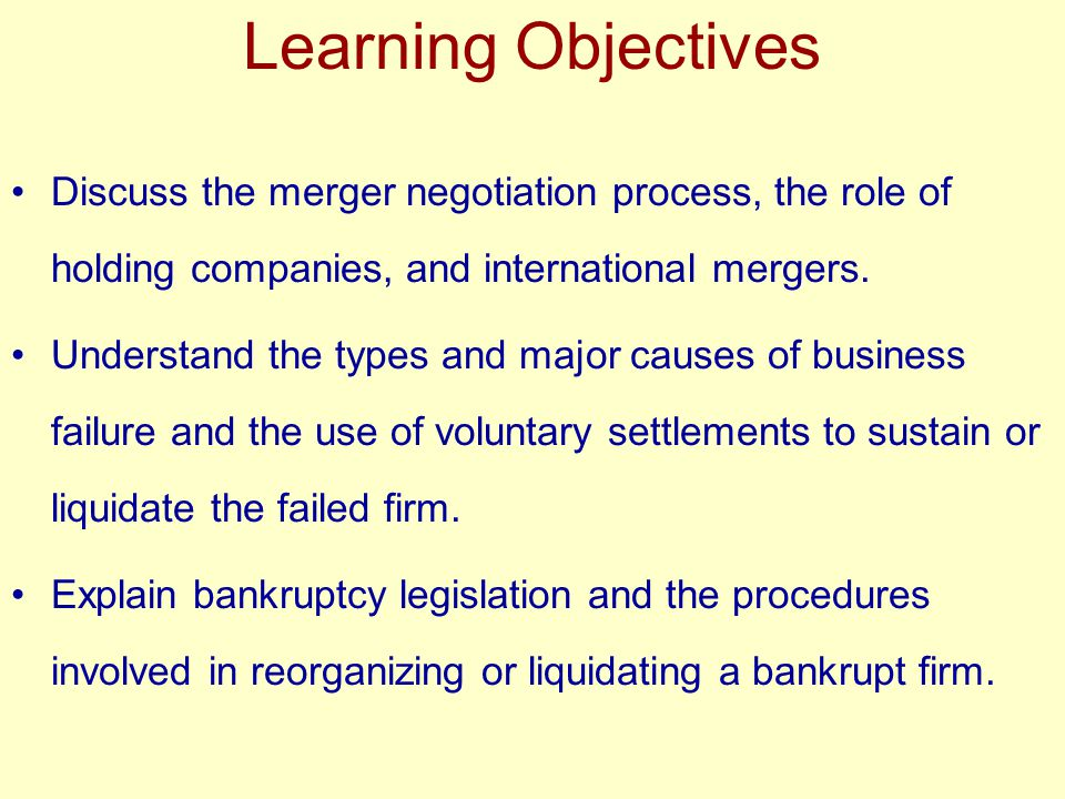 Business Failure Fundamentals Voluntary Settlements Sometimes liquidation is the best solution.