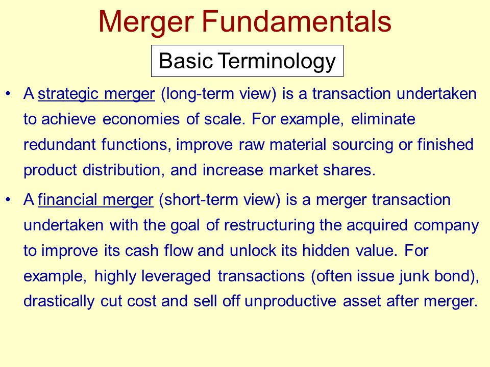 Analyzing and Negotiating Mergers After determining the value of a target, the acquire must develop a proposed financing package.
