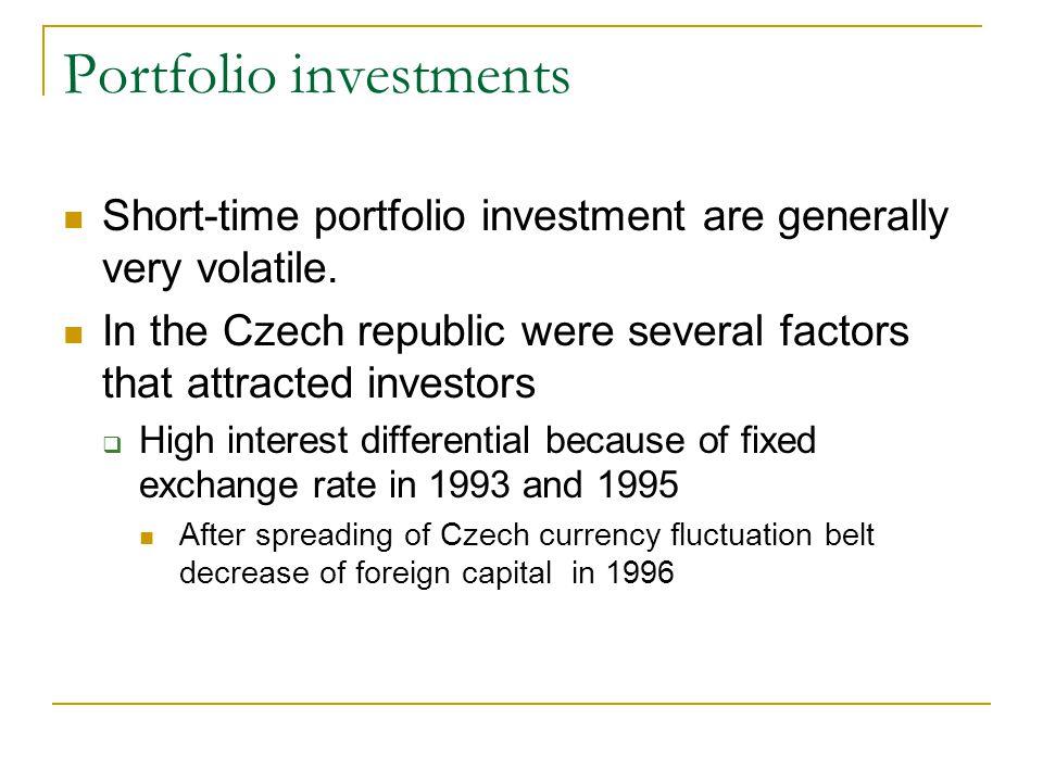 Portfolio investments Short-time portfolio investment are generally very volatile.