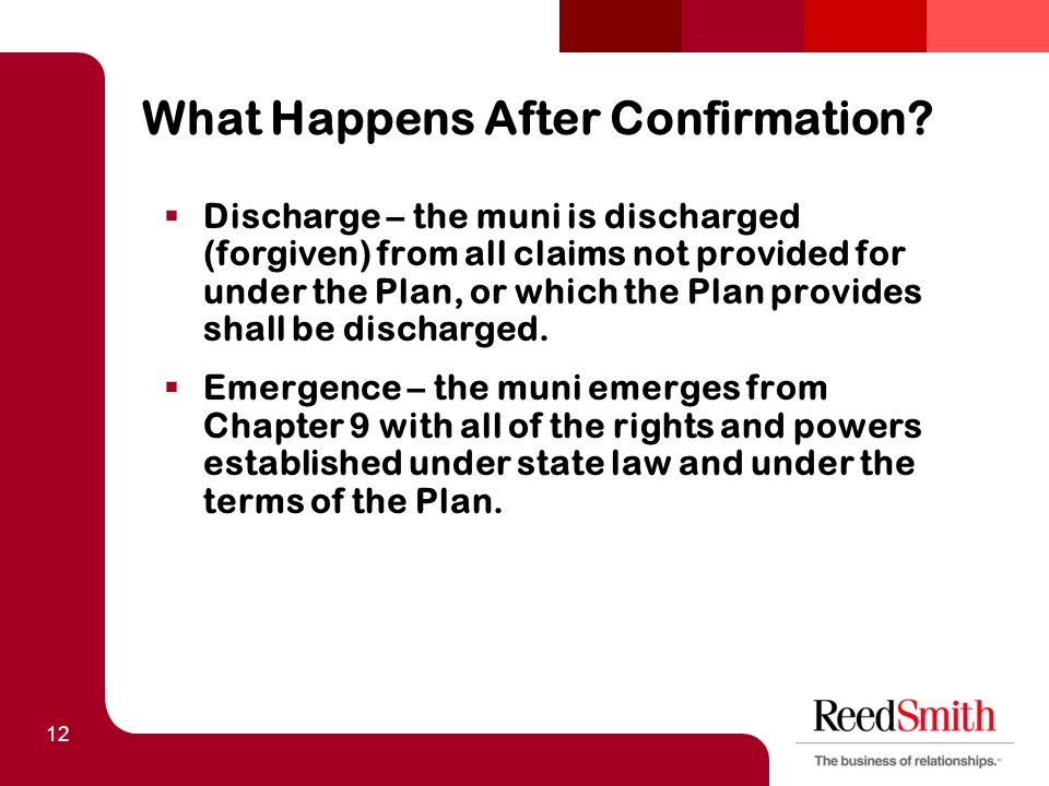 12 What Happens After Confirmation.