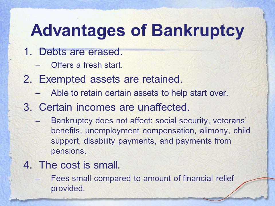 Major Causes of Bankruptcy Business Failure –As a sole proprietor, your personal assets can be taken for your business Emotional Spending Failure to B