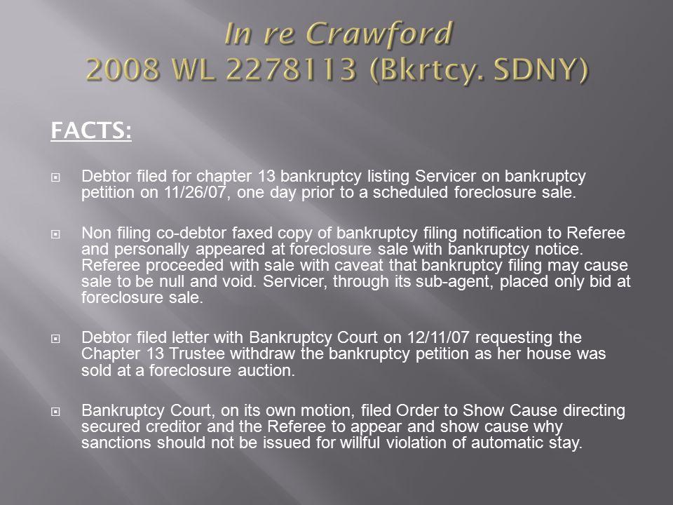 In re Crawford 2008 WL 2278113 (Bkrtcy.
