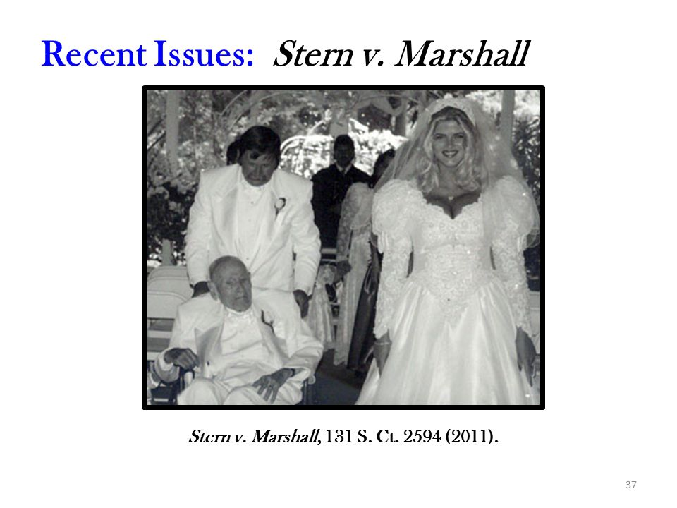 37 Recent Issues: Stern v. Marshall Stern v. Marshall, 131 S. Ct. 2594 (2011).