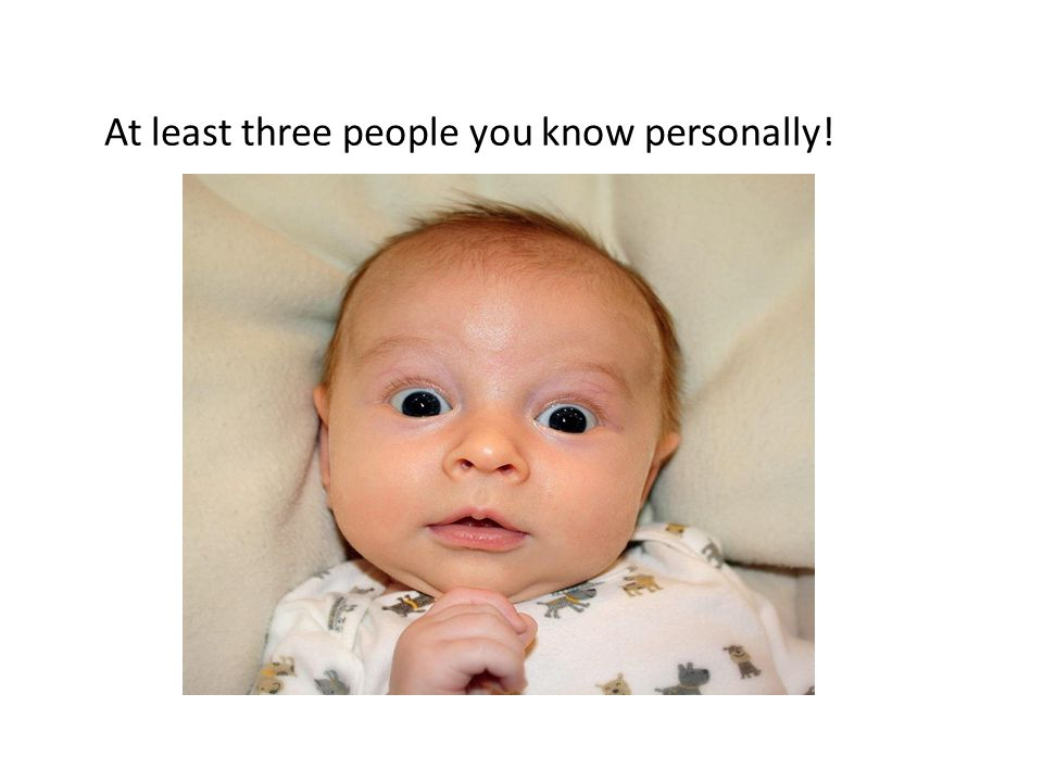 At least three people you know personally!