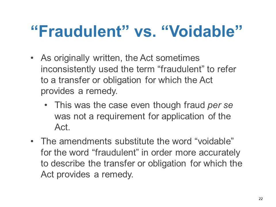 Fraudulent vs.