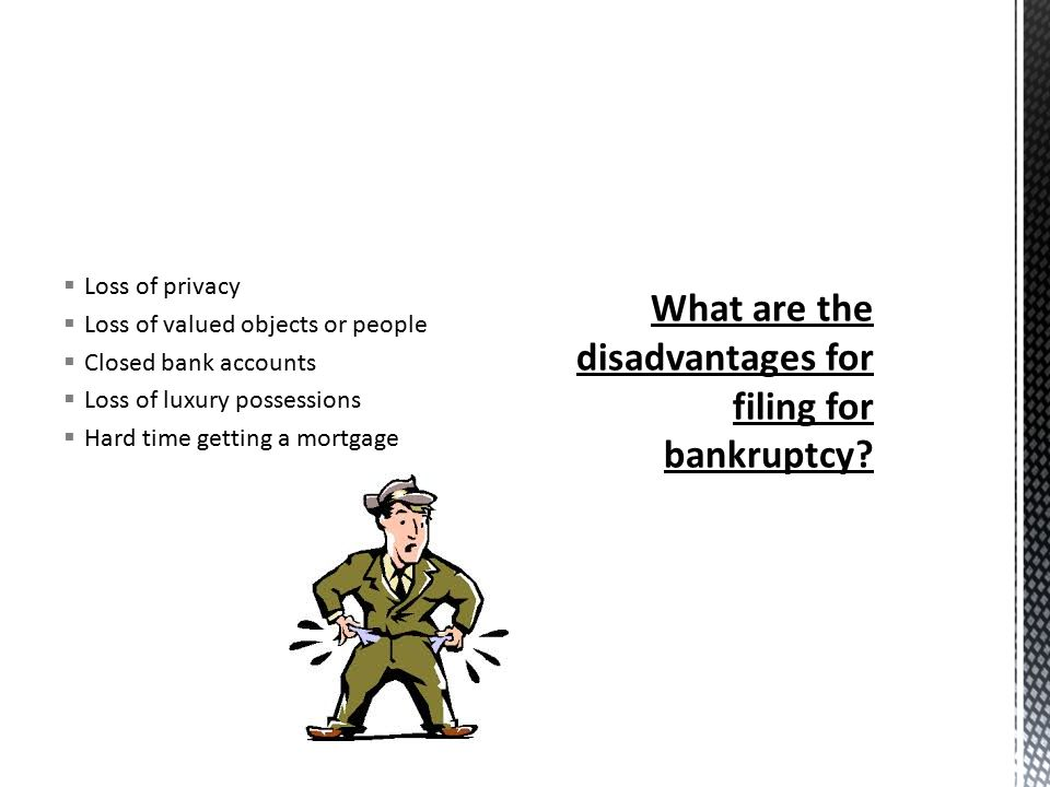  They add additional charges to credit card  Transfer there property out of their name  Cash in retirement accounts  Ignore pending law suits  Treat some creditors better than others