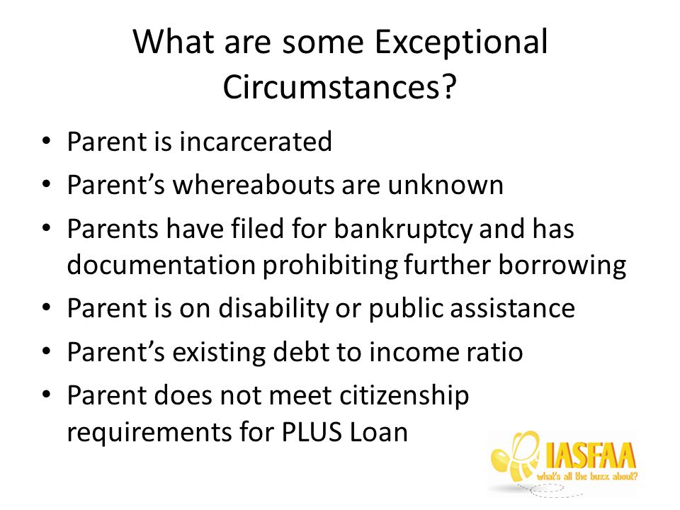 What are some Exceptional Circumstances.