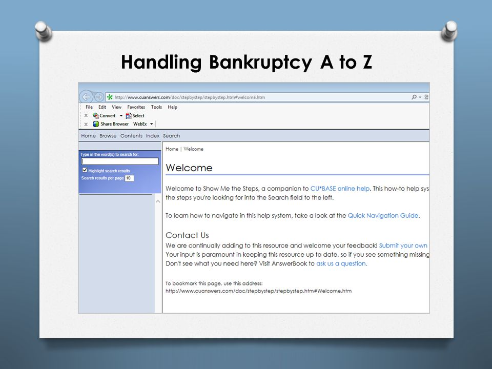 Handling Bankruptcy A to Z
