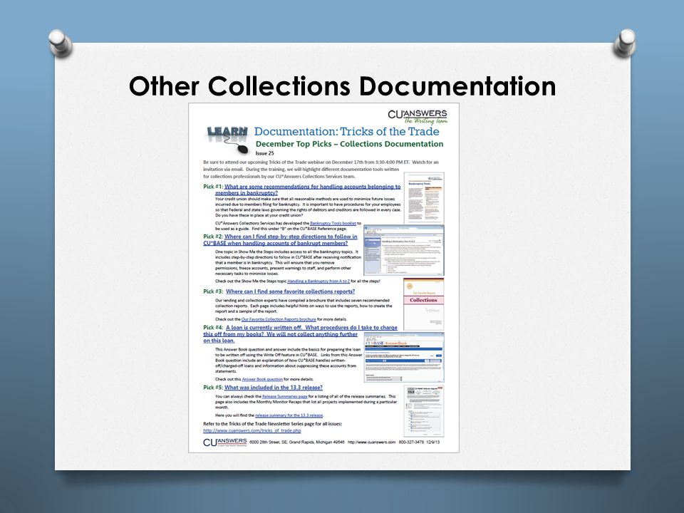 Other Collections Documentation