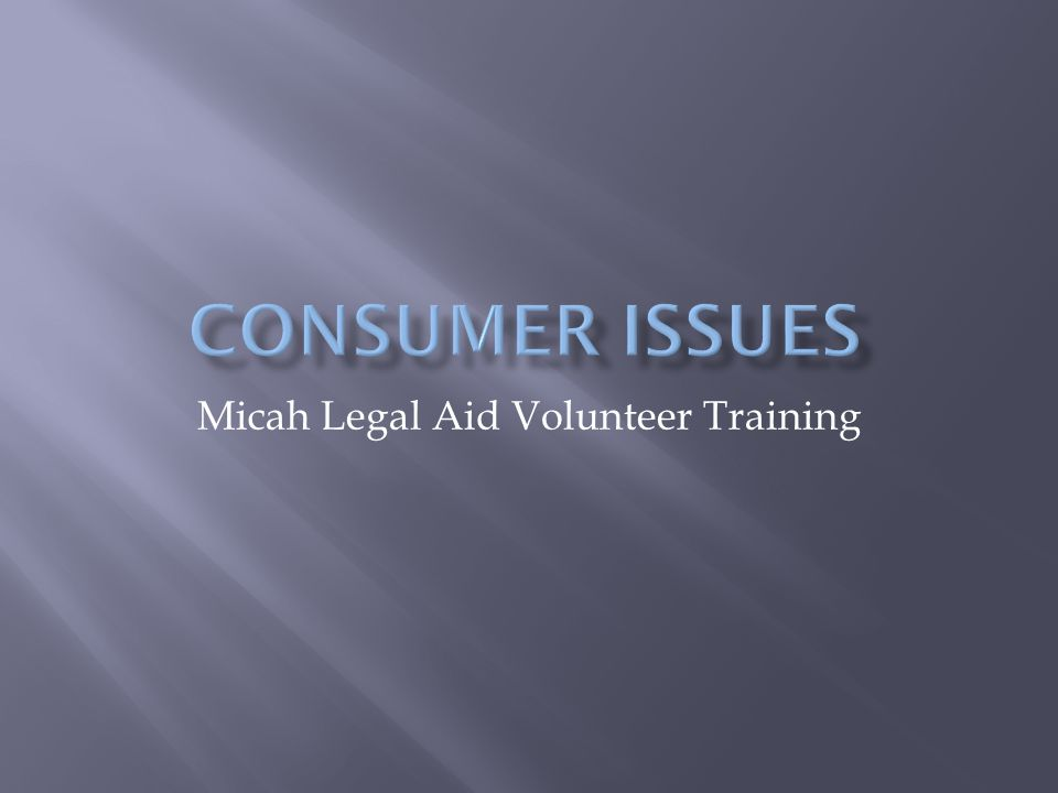Micah Legal Aid Volunteer Training