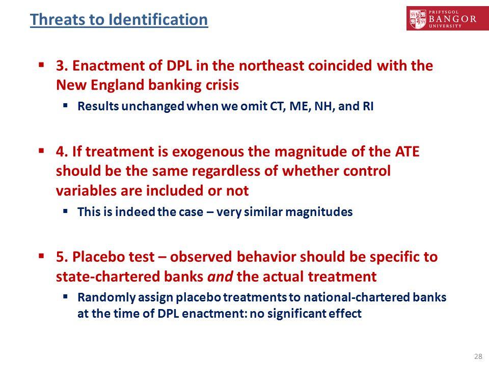 Threats to Identification 28  3.