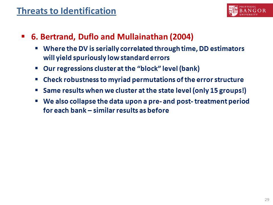 Threats to Identification 29  6.